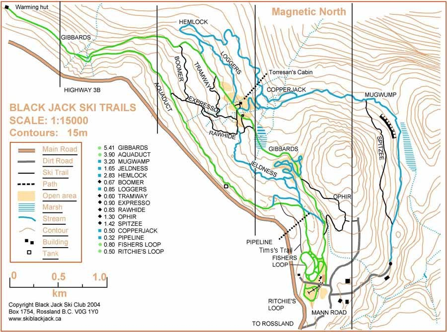 Blackjack Cross Country Map